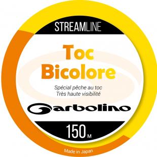 NYLON GARBOLINO STREAMLINE TOC-MONO BICOLORE ORANGE/JAUNE150 M