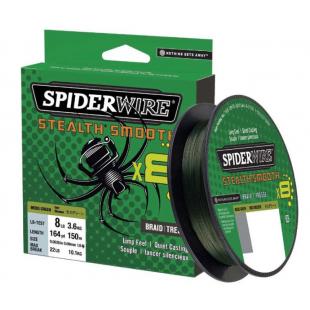 TRESSE SPIDERWIRE STEALTH SMOOTH 8 MOSS GREEN 150M