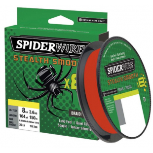 TRESSE SPIDERWIRE STEALTH SMOOTH 8 RED 150M