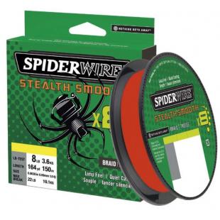 TRESSE SPIDERWIRE STEALTH SMOOTH 8 RED 150M