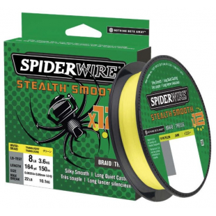 TRESSE SPIDERWIRE STEALTH SMOOTH 12 HI VIZ YELLOW 150M