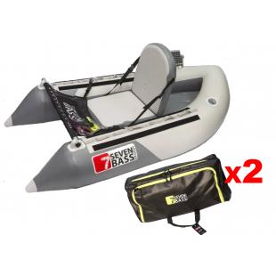 FLOAT TUBE SEVEN BASS EXPLORER 170 + SACOCHES FLEX CARGO XL