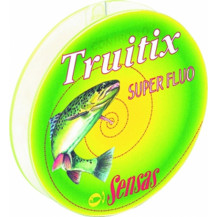 NYLON SENSAS TRUITIX SUPER FLUO 100M