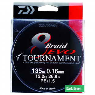 TRESSE DAIWA TOURNAMENT 8 BRAID EVO DARK GREEN 135M