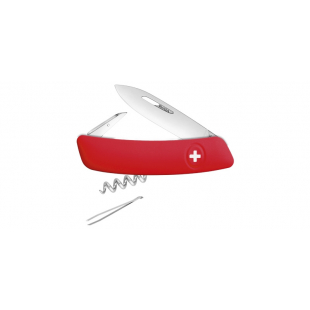 COUTEAU SWIZA 6 FONCTIONS ROUGE