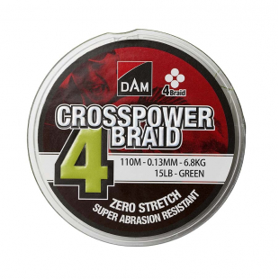 TRESSE DAM CROSSPOWER 4 BRAID GREEN 150 M