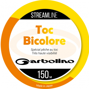 NYLON GARBOLINO STREAMLINE TOC-MONO BICOLORE ORANGE/JAUNE150 M