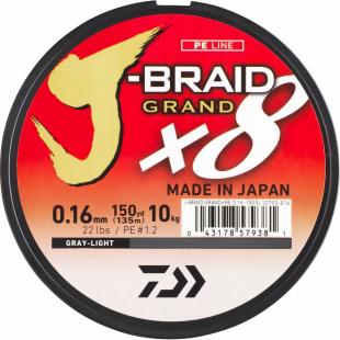 TRESSE DAIWA J BRAID GRAND X8 MULTICOLOR 150M